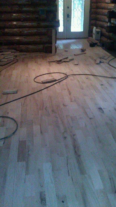 Cabin Grade Red Oak Flooring In A Cabin Flooracle