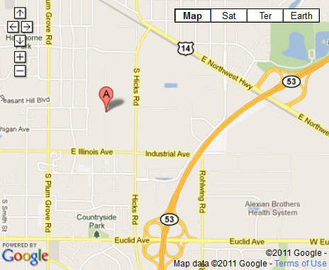 Chicago Hardwood Flooring Specialties Palatine, IL Location Map