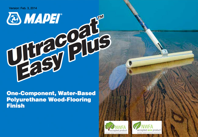 Mapei Ultracoat Water-Based Wood Floor Finish and Sealers