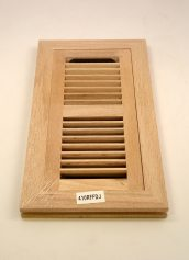 Wood Ventures Red Oak Flush Mount Hardwood Heat Vents with Dampers
