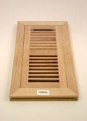 Wood Ventures White Oak Flush Mount Hardwood Heat Vents with Dampers