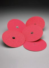 Norton Abrasives Red Heat Bolt-On Edger Discs 7 Inch x 5/16 Inch Hole