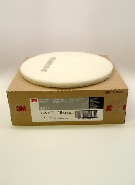 3m 4100 white super polish pad 16 inch each chicago for 16 floor buffer
