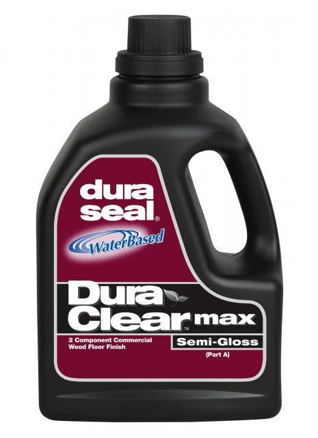 dura seal duraclear max semi gloss two component water based commercial wood floor finish gallon