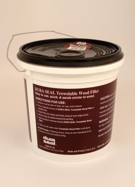 Dura seal red oak trowelable wood filler gallon chicago for Wood floor hole filler