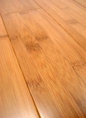 LW Mountain Hardwood Floors Solid Prefinished Carbonized Horizontal Grain Bamboo Flooring 3 Foot Lengths