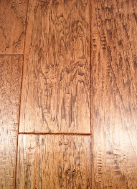 Lw Mountain Hardwood Floors Hickory Autumn Brown Stain One Strip Distressed Click Hardwood