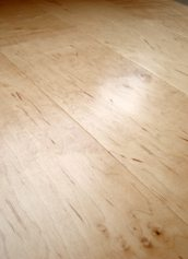 LW Mountain Hardwood Floors Maple Natural One Strip Click Engineered Hardwood Flooring 125 mm Wide