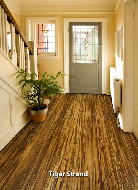 Hardwood Floors Solid Prefinished Tiger Strand Bamboo Flooring