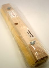 Nottingham Wood Products Complete 16 Inch Wide x 3/4 Inch Thick Lambswool Block and Pad Floor Finish Applicator