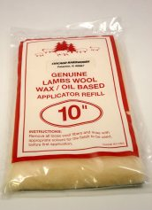 Nottingham Wood Products 10 Inch Wide x 3/4 Inch Thick Lambswool Floor Finish Applicator Refill