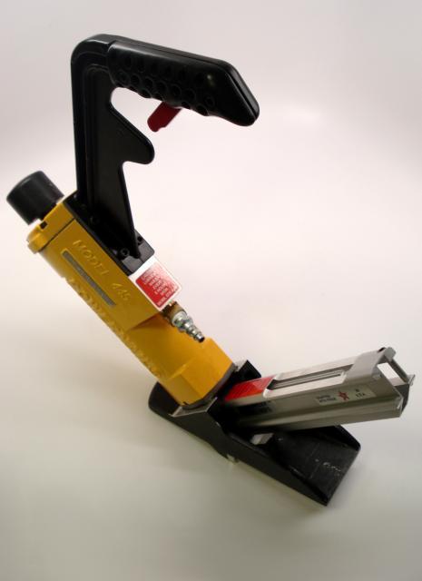 Powernail Model 445FS Flooring Stapler with 3mi White