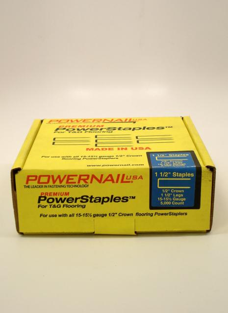 Powernail powerstaples flooring staples 1 1 2 inch box for Wood floor nails or staples