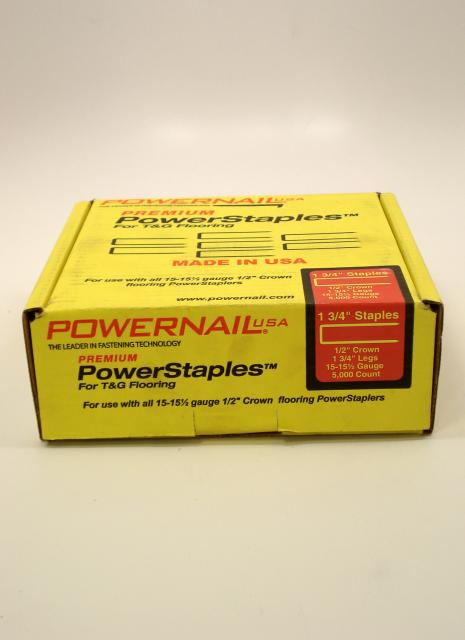 Powernail powerstaples flooring staples 1 3 4 inch box for Wood floor nails or staples