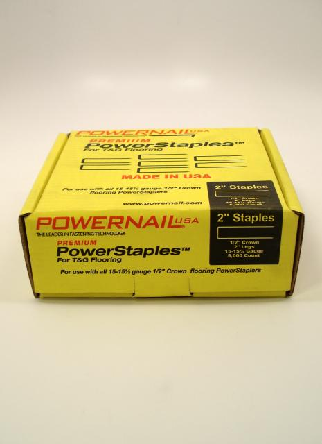 Powernail powerstaples flooring staples 2 inch box of for Wood floor nails or staples