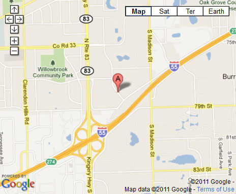 Chicago Hardwood Flooring Specialties Willowbrook, IL Location Map