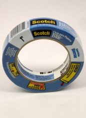 3M 2090 Scotch Blue Painters Tape Multi-Surfaces 1 Inch