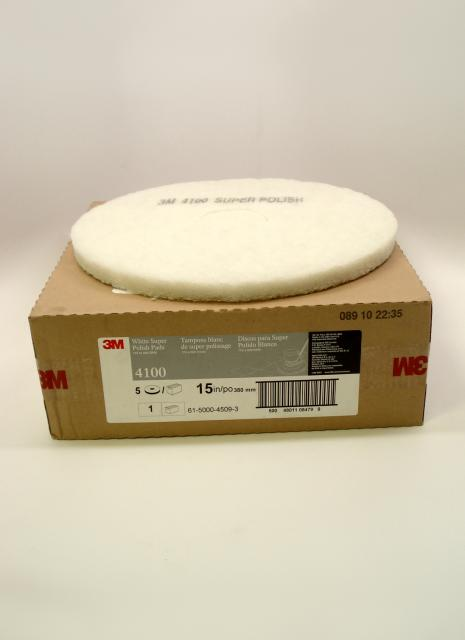 3m 4100 White Super Polish Pad 15 Inch Each Chicago