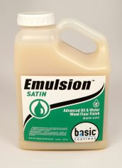 Basic Coatings Emulsion Pro Satin Waterbased Wood Floor Finish