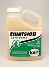 Basic Coatings Emulsion Pro Semi Gloss Waterbased Wood Floor Finish
