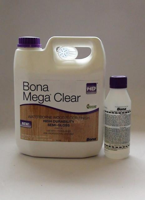 Bona Mega Clear Hd Semi Gloss Water Based Wood Floor Finish Gallon Chicago Hardwood Flooring