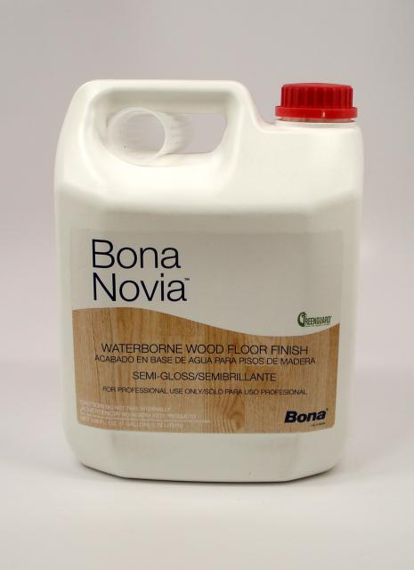Bona Novia Waterborne Wood Floor Finish Semi Gloss Gallon