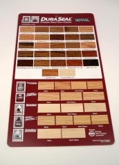 Dura Seal Stain Color Hanging Display Board