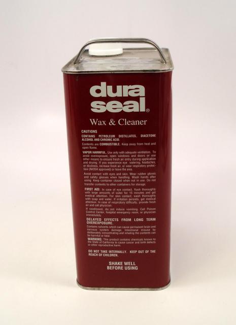 Dura Seal Wax And Cleaner For Wood Flooring Coffee Brown