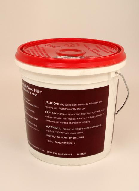 Dura seal brazilian cherry trowelable wood filler gallon for Wood floor hole filler
