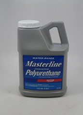 Masterline Water Based Polyurethane 1 Gallon Wood Floor Finish Satin