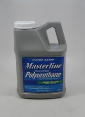 Masterline Water Based Polyurethane 1 Gallon Wood Floor Finish Semi-Gloss