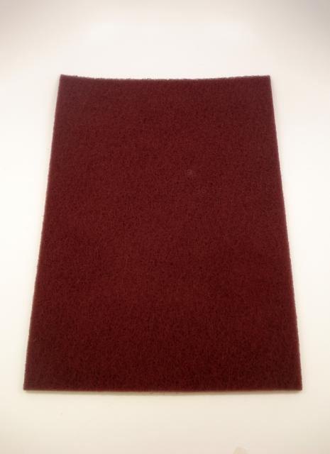 Norton Abrasives 12 Inch X 18 Inch Maroon Conditioning Pad