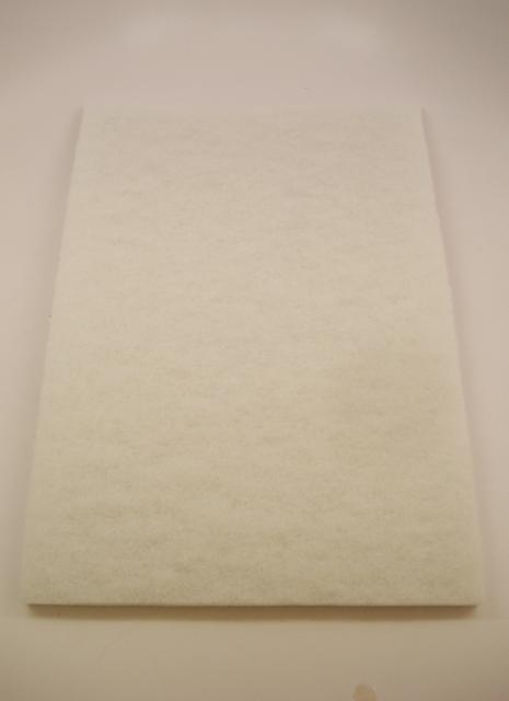 Norton Abrasives 12 Inch X 18 Inch White Buffing Pad Each