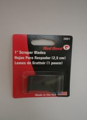 Nottingham Wood Products Red Devil Scraper 1 Inch Wide Blades